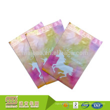 """Tearproof Custom 6"""" X 9"""" Pink Unicorn Vibrant Print Personalised Mailing Bags For Retail Store"""