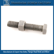 Plain Finished Hex Bolt and Nut