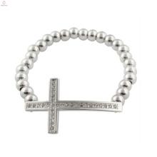 Promotion Herren Kreuz Armbänder, Christian Herren Silber Kreuz Armband Schmuck