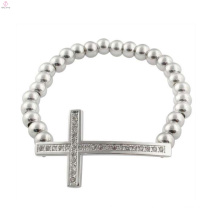 Promotion mens cross bracelets,christian mens silver cross bracelet jewelry