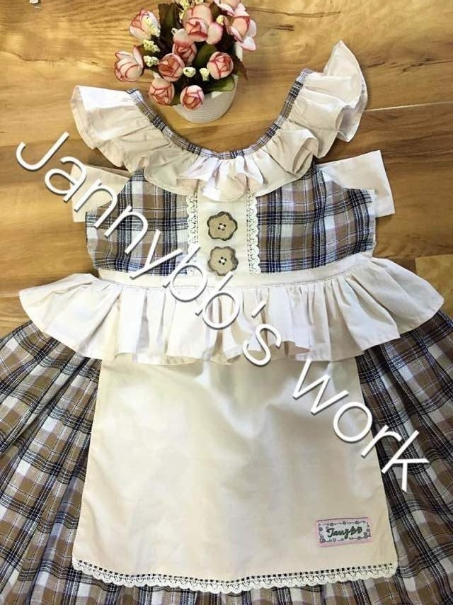 Jannybb Wholesale Boutique Girls 'Check Panifore