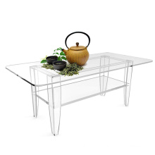 Customized Modern Style Acrylic Dining Table On  Lving Room  Are Removable For Convenient