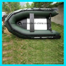 Flutuar o tubo barco barco inflável pesca com assoalho de alumínio