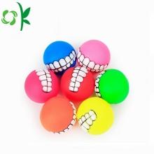Balles de jouet à mâcher en silicone pour animaux de dentition en silicone