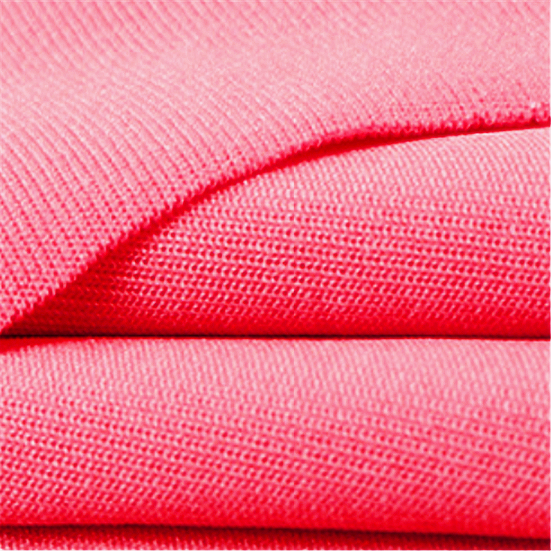 Rose Red Polyester Stretch Glatte Milch Seide Stoff