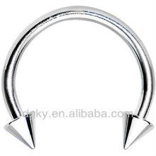 Acero inoxidable espiga herradura circular barbell cuerpo piercing joyería
