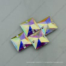 Pierres de vêtement en cristal de forme de Sqaure (DZ-3068)