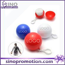 Women Plastic Transparent Disposable Ball Poncho Raincoat