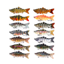 Fishing Accessories 10cm Artificial Bass Fish Bait 6 Segmented Multi Jointed Hard Lures