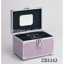 New arrival aluminum jewellery box with a removable tray inside