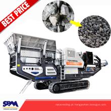 Triturador de maxila móvel de pedra do equipamento de segurança da eficiência elevada