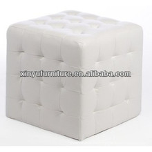 White cube leather ottoman XY0310