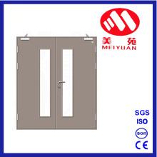 Puerta cortafuego de acero, Puertas de vidrio doble