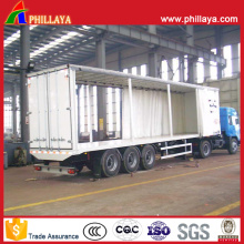 Curtain Side Semi Trailer with Truck Parts