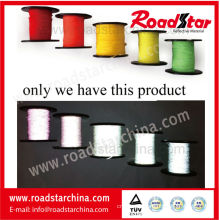 1.5mm width colorful double sided reflective thread for knitting