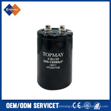 250V 10000UF tornillo Terminal aluminio condensador electrónico (TMCE21)