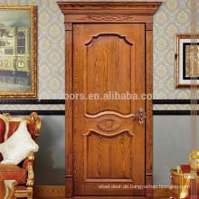 Geschnitzte einteilige Tür der Holztür aus Architrav und Gehäuse