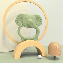 BPA Free  Custom Elephant Silicone Teething Toys