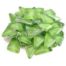 Puces de mosaïque vert herbe pour mosaïque de jardin