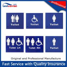 Custom Plastic Tactile Toilet Signs