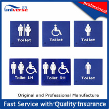 Plástico Custom Tactile Toilet Signs