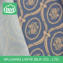 Impressão digital de estilo simples tecido de vestido longo