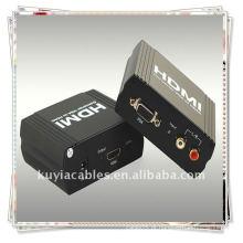 Alta qualidade VGA + R / L ao conversor de HDMI