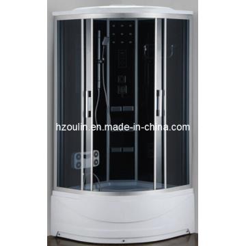 Cabina de ducha de masaje de sauna con vapor computarizado (AC-64H)