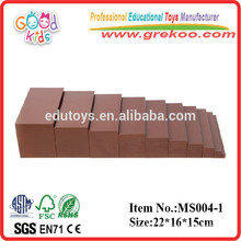 2015 new Montessori brown stair ,popular kids educational toy brown stair ,hot sale brown stair