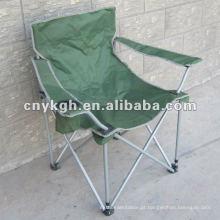 Cadeira de dobradura militar de viagem com braço, cadeira resistente