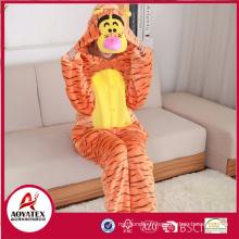 Nouveau design charmant animal tigre flanelle polaire adulte pyjamas onesie