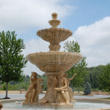 Chinesischer Stein, der Qualitätswasserbrunnen mit Damenstatue schnitzt