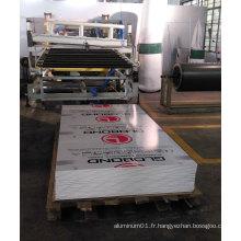 Panneau d'économie d'énergie en aluminium ignifuge