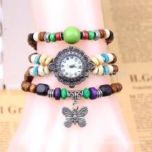 Venda de relógio pulseira Handmade, Estudantes Pulseira relógio, senhoras borboleta pingente relógio pulseira BWL052