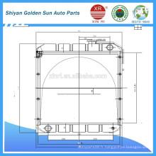 Radiateur en cuivre pour les véhicules agricoles de Myanmar de la fabrication de Shiyan en Chine.