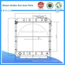 Copper radiator for Myanmar agricultural vehicles from Shiyan manufacture in China.
