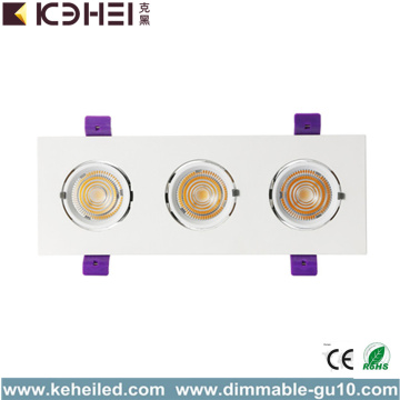 COB LED Downlights Reflectores empotrables 3 * 12W 4000K