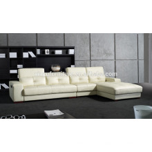 Móveis para casa estilo de lazer couro branco sala de estar sofá KW341