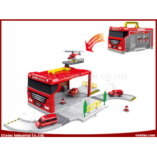 DIY Toys Fire Engine Play Set Storage Box Car
