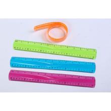Oficina de papelería escolar personalizada regla flexible suave de 30 cm