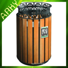Poubelle en bois de compostage en bois