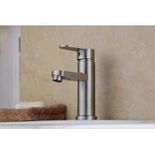 Sola manija 304 grifo del lavabo del acero inoxidable (HS15002)