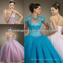 HQ2006 2014 Fashion layered embroidery quinceanera dresses