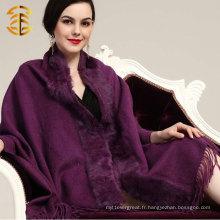 Foulard en peau de lapin pour femmes en laine et en cachemire