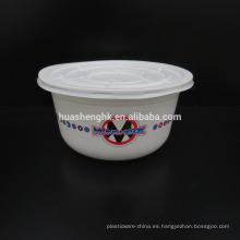 Envase de plástico desechable para alimentos 750 ml Microondas Caja fuerte