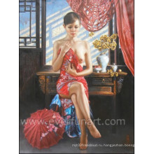 Картина высокого качества изображения обнаженной женщины Кита