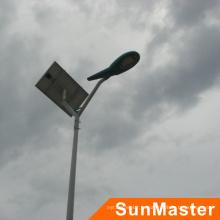 6m высокий полюс 25Вт интегрированный солнечного света привело улице со всеми принадлежностями