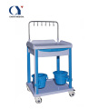 Plastic medical cart IV transfusion trolley with drawers