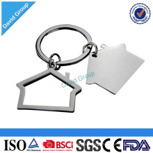 Alibaba Certified Top Supplier Wholesale Custom Promotional House Shaped Metal Keychain