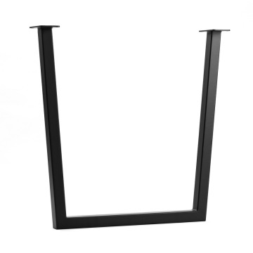 Square Rusty Solid Steel Dining Table U Legs